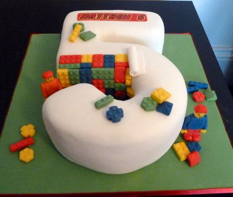 Lego Birthday Cake Lego Number 5 Birthday Cake Wedding Birthday Cakes From