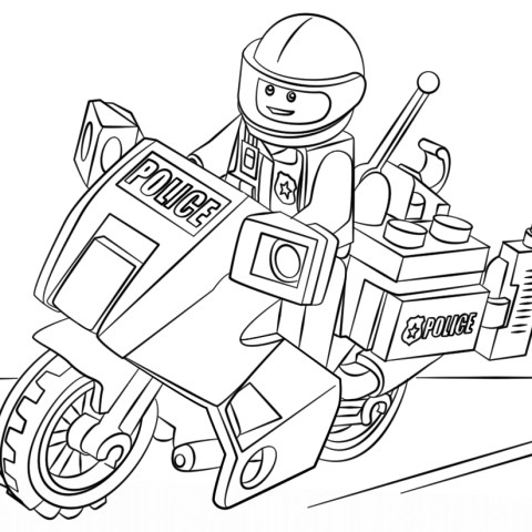 Lego City Coloring Pages Lego Moto Police Coloring Page Free Printable Coloring Pages
