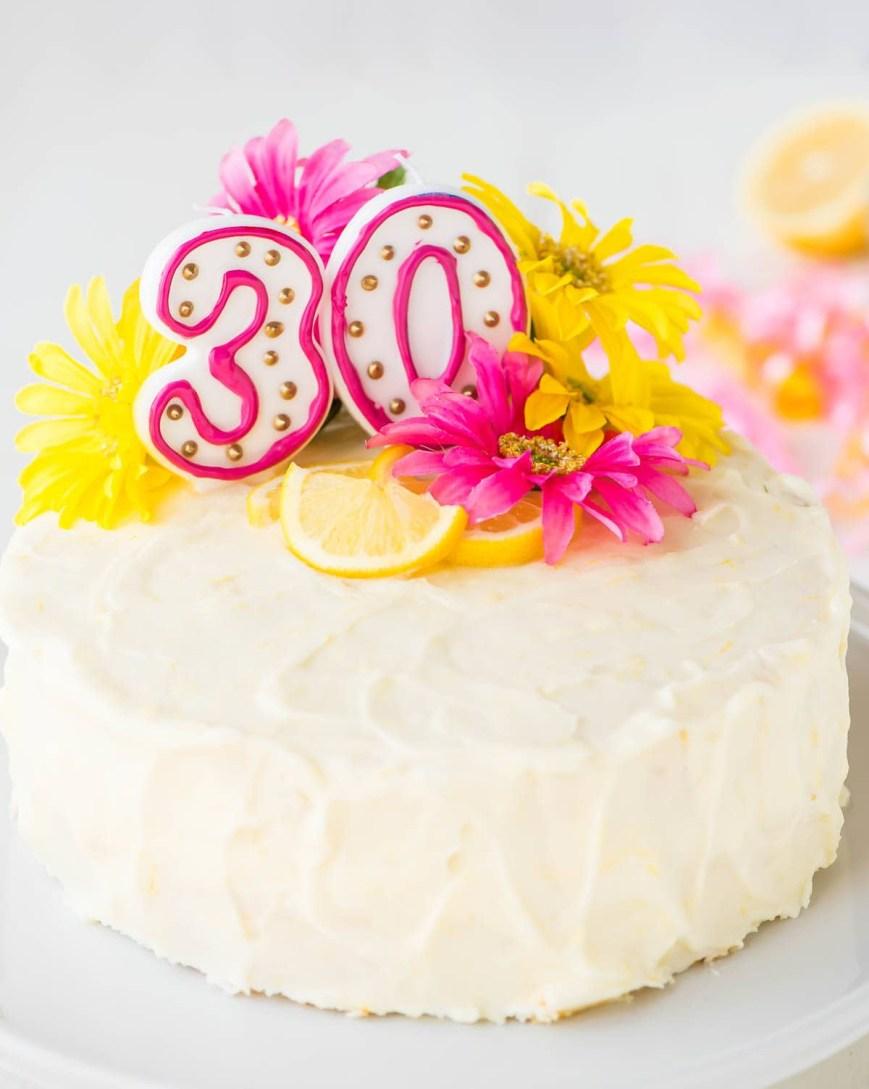 Lemon Birthday Cake Lemon Layer Cake With Lemon Cream Cheese Frosting
