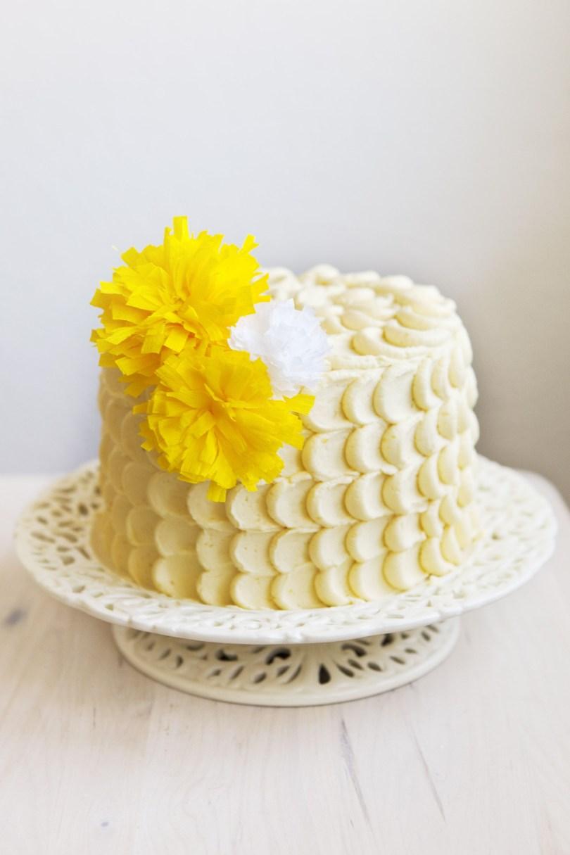 Lemon Birthday Cake Passion Fruit Lemon Birthday Cake Cakes Pinterest