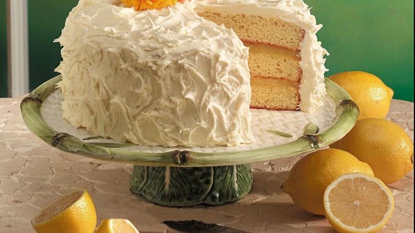Lemon Birthday Cake Triple Layer Lemon Cake Recipe Taste Of Home