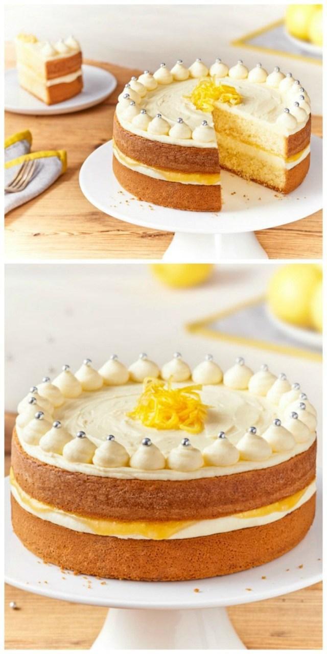 Lemon Birthday Cake Zesty Lemon Celebration Cake Cake Cupcakes Pinterest Cake