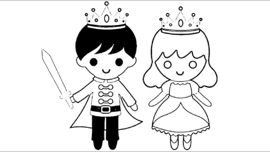 Little Girl Coloring Pages Little Boy King And Little Girl Queen Coloring Pages L Kids Coloring