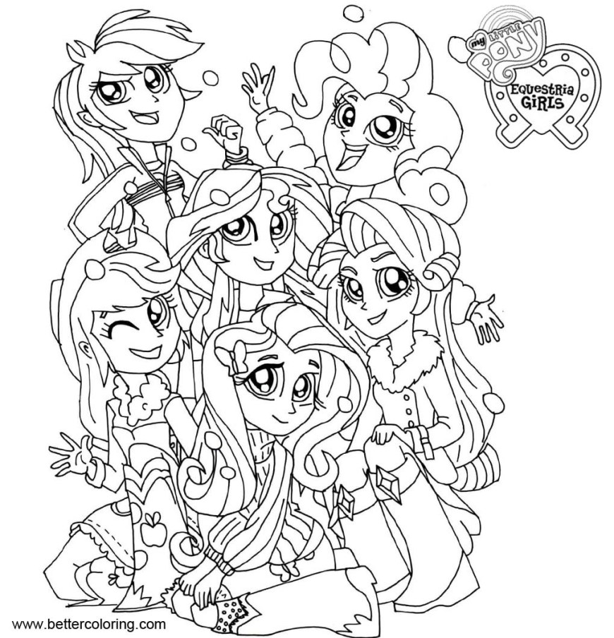 Little Girl Coloring Pages My Little Pony Equestria Girls Coloring Pages My Little Pony