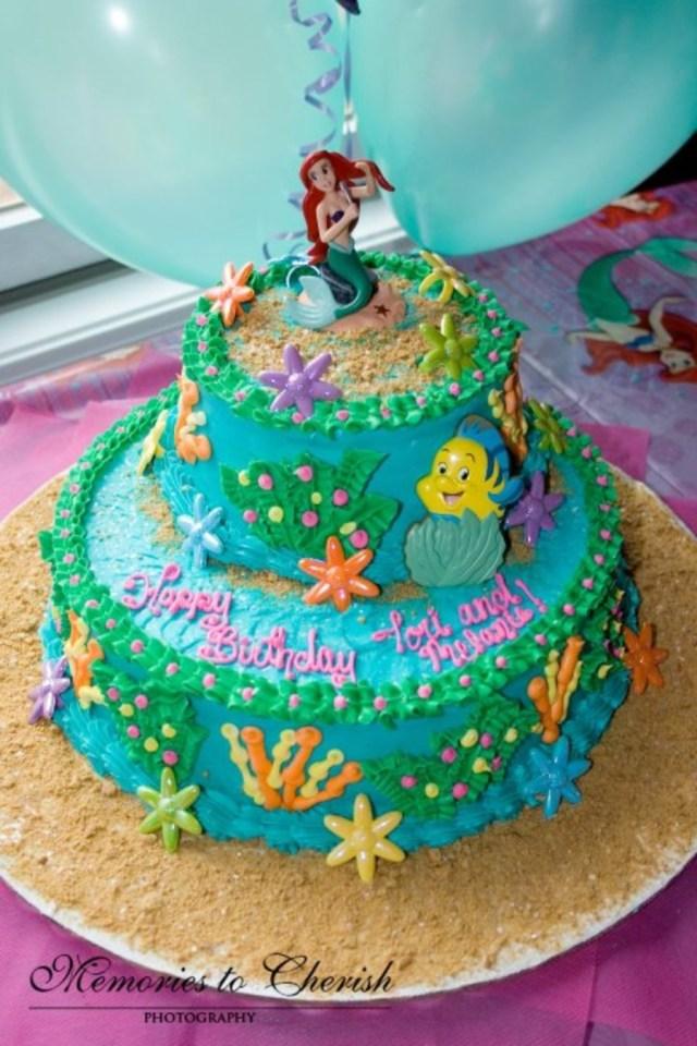Little Mermaid Birthday Cake 2 Tier Little Mermaid Birthday Cake Cakecentral
