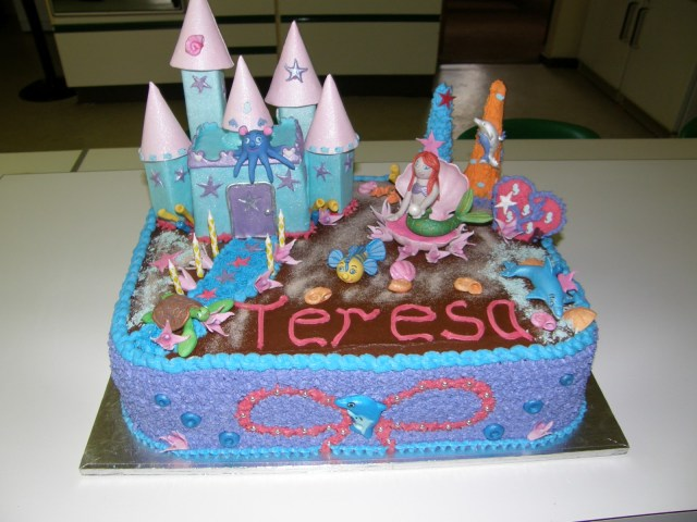 Little Mermaid Birthday Cake Its My Party Little Mermaid Birthday Cake