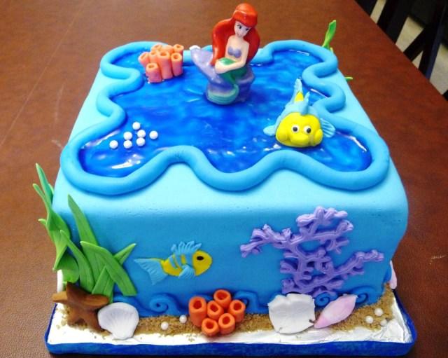 Little Mermaid Birthday Cake Little Mermaid Birthday Cake Protoblogr Design Little Mermaid