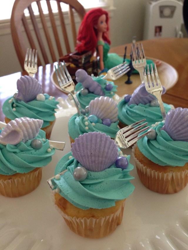 Little Mermaid Birthday Cake Little Mermaid Cupcakes Little Mermaid Birthday Pinte