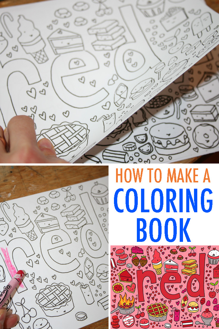 Make your own coloring pages with words make your own coloring book free tutorial