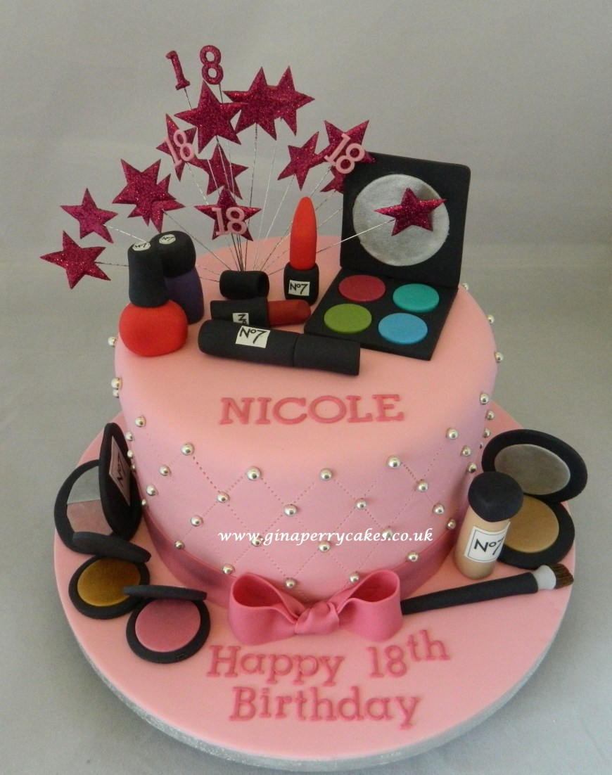 Makeup Birthday Cake 18th Birthday Cake Make Up Theme Quinceaera Sweet 16 Cakes