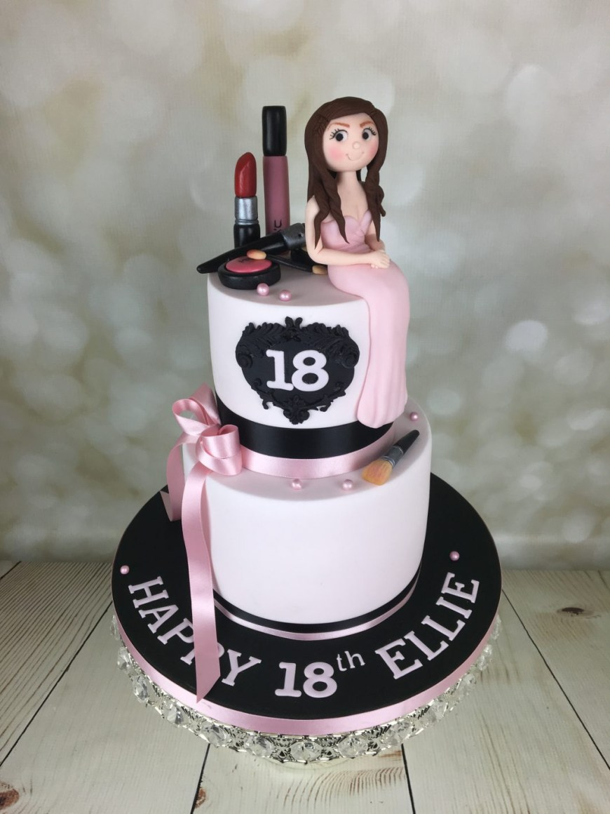 Makeup Birthday Cake 18th Birthday Cake With Mac Makeup Mels Amazing Cakes For Mac Makeup