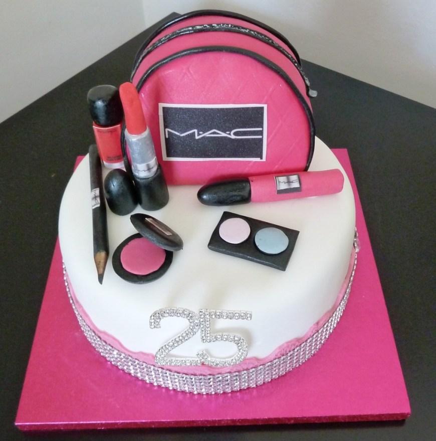 Makeup Birthday Cake Mac Makeup Birthday Cake Wedding Birthday Cakes From Maureens