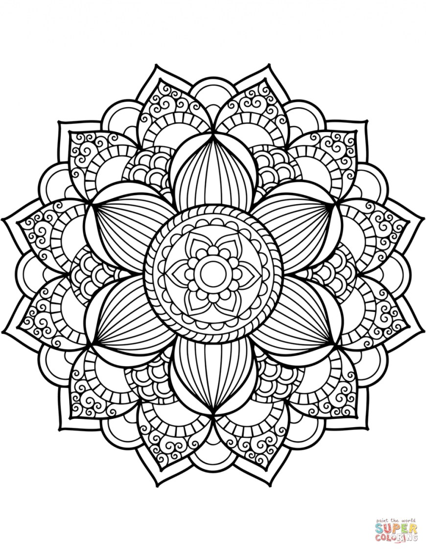 Mandalas Coloring Pages Coloring Page Coloring Page Flower Mandala Floral Mandalas Pages
