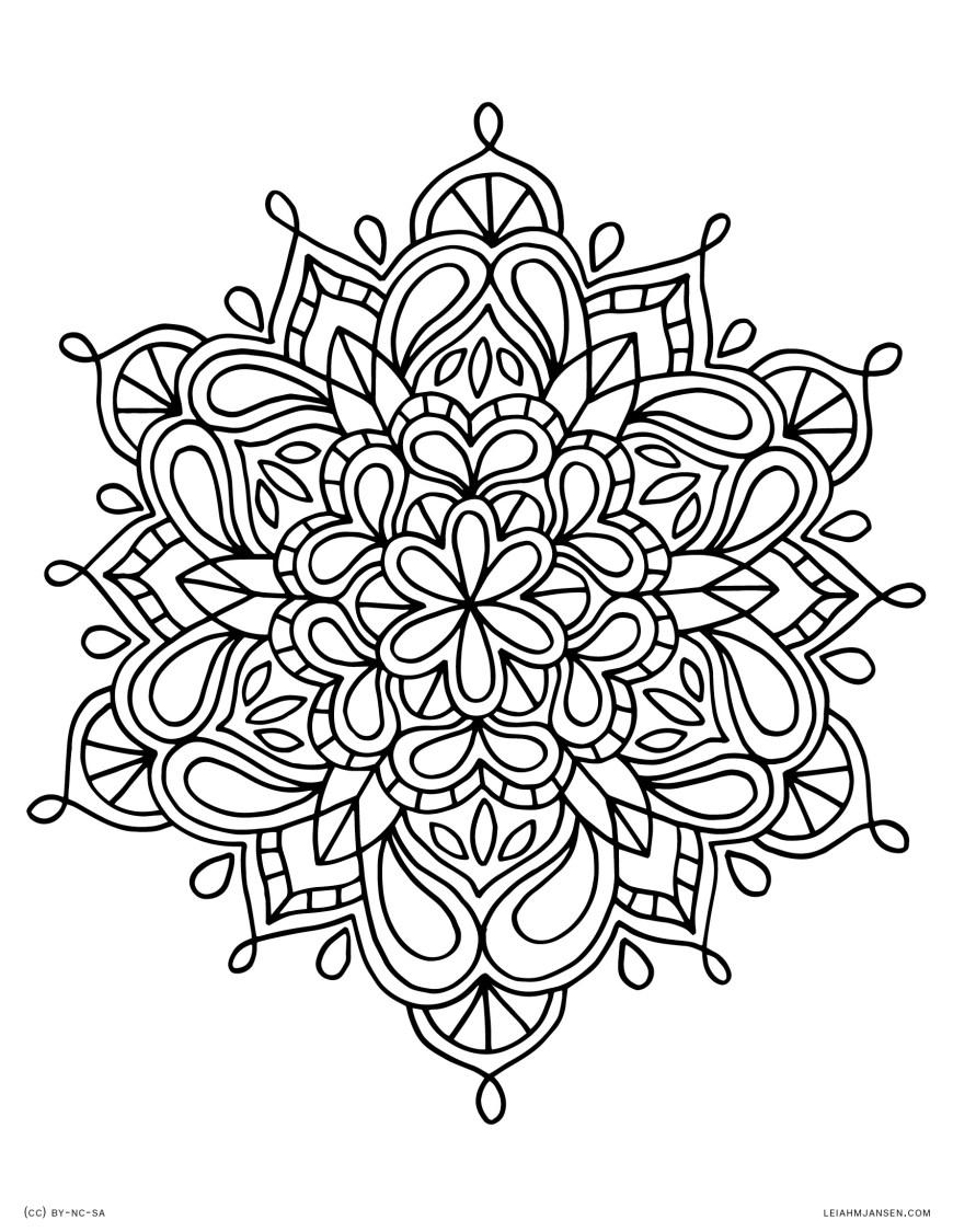 Mandalas Coloring Pages Coloring Page Coloring Page Mandala Lmj 34 Mandala Coloring