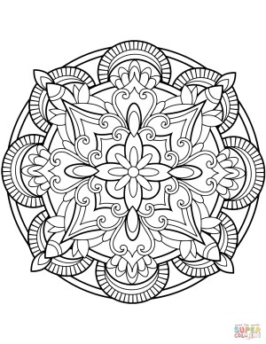 Mandalas Coloring Pages Floral Mandalas Coloring Pages Free Coloring Pages