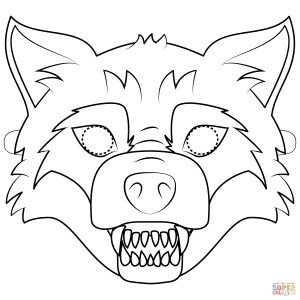 Mask Coloring Pages Big Bad Wolf Mask Coloring Page Free Printable Coloring Pages