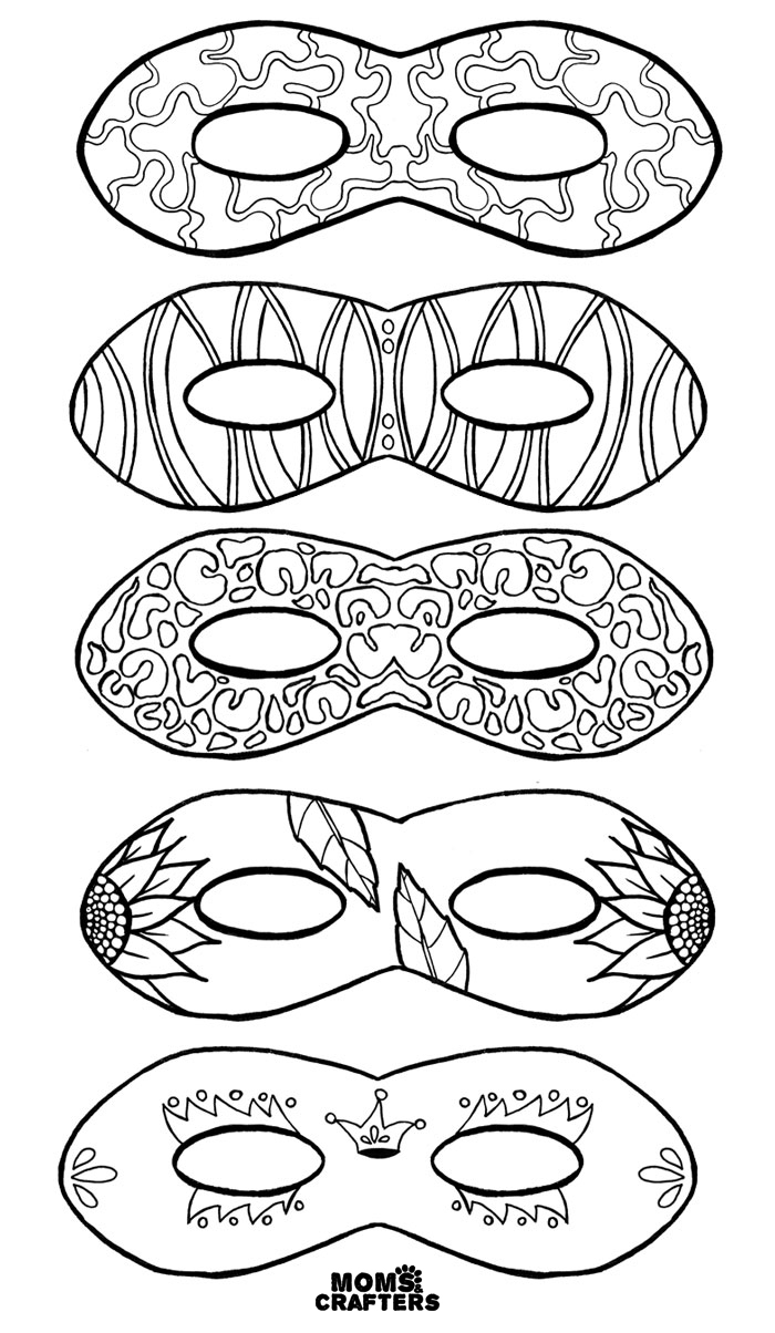 Mask Coloring Pages Color In Masks Free Printable Coloring For Adults And Kids