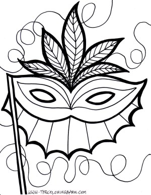 Mask Coloring Pages Mardi Gras Float Coloring Pages To Print Free Printable Masks 2016