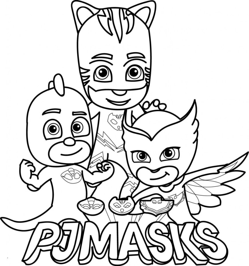 Mask Coloring Pages Pj Mask Coloring Pages Rnharts Coloring Page