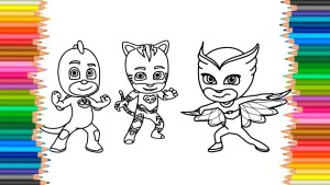 Mask Coloring Pages Pj Masks Coloring Pages L Fun Coloring Book Markers Videos For