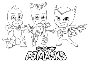 Mask Coloring Pages Pj Masks To Download For Free Pj Masks Kids Coloring Pages