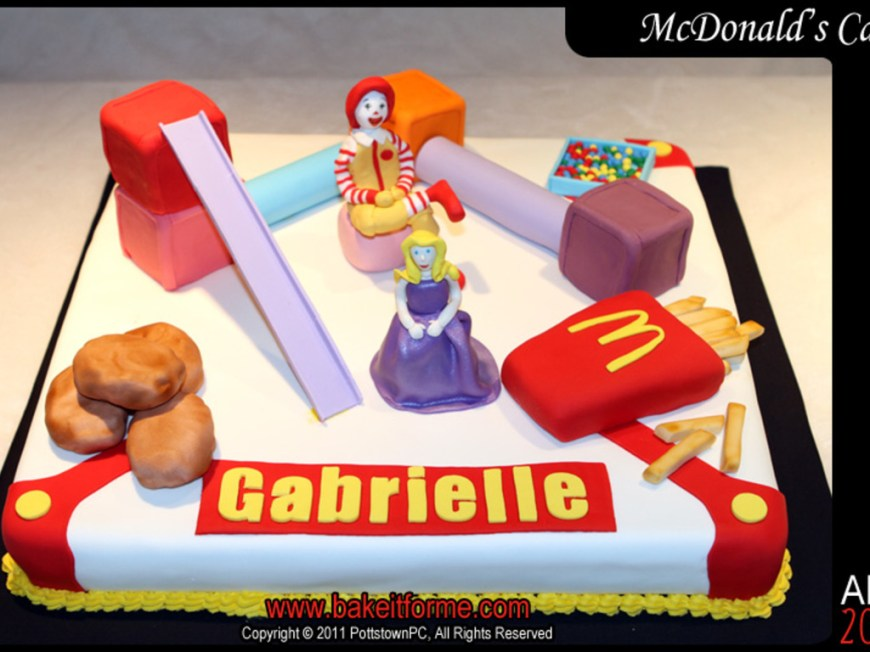Mcdonalds Birthday Cake Mcdonalds Fondant Birthday Cake Cakecentral