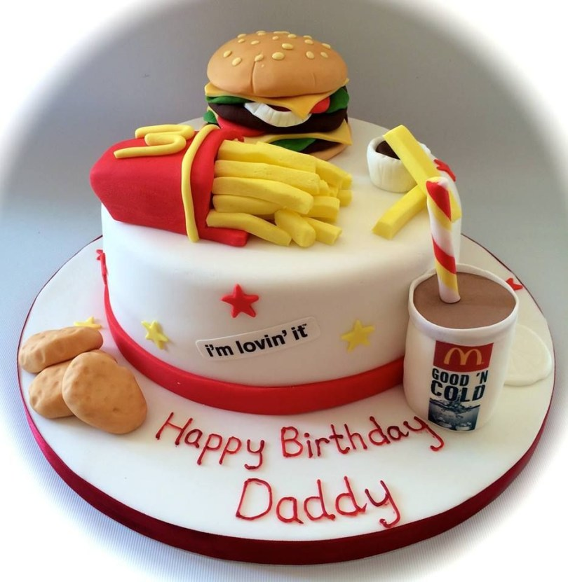 Mcdonalds Birthday Cake Mcdonalds Take Away Themed Birthday Cake Wwwfacebook