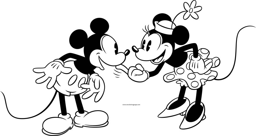 Mickey And Minnie Coloring Pages Old Mickey Minnie Mouse Coloring Page 3 Wecoloringpage