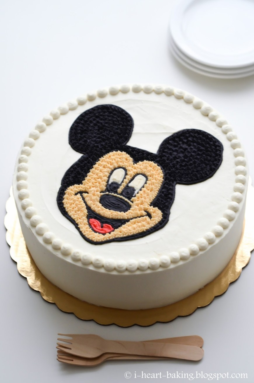 Mickey Birthday Cake I Heart Baking Mickey Mouse Face Birthday Cake