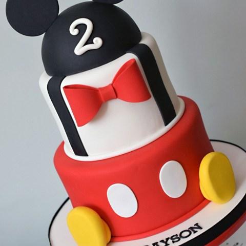 Mickey Birthday Cake Mickey Mouse Themed Cake K Noelle Cakes Disneys Mickeyminnie