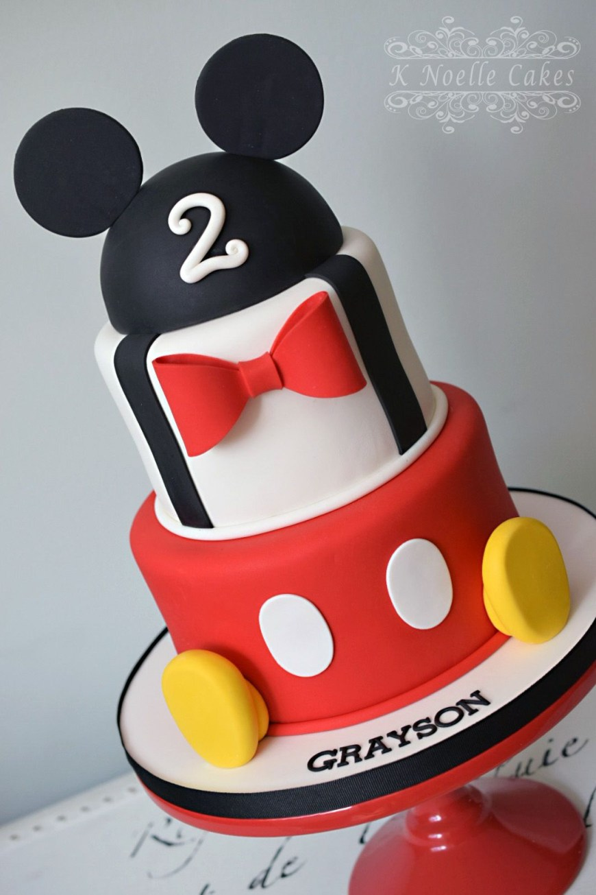 Mickey Birthday Cake Mickey Mouse Themed Cake K Noelle Cakes Disneys Mickeyminnie