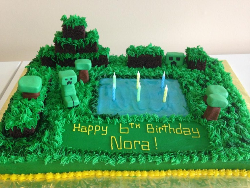 Minecraft Birthday Cake Ideas Bounce House Birthday Cake Ideas Small House Interior Design