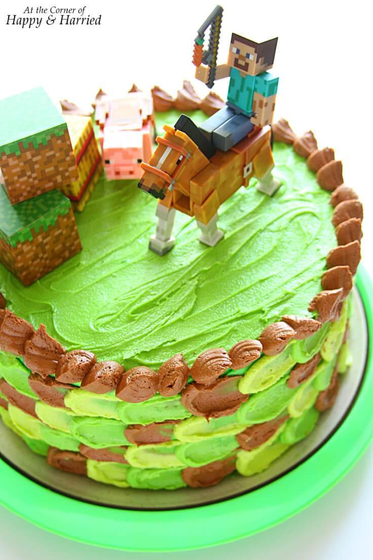 Minecraft Birthday Cake Ideas Minecraft Themed Birthday Cake