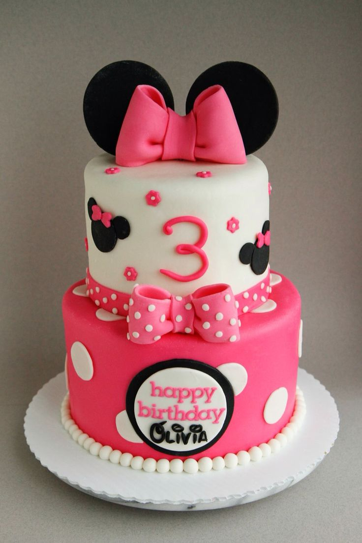Minnie Mouse Birthday Cake Happy 3rd Birthday Olivia A 68 Minnie Mouse Cake Filled With