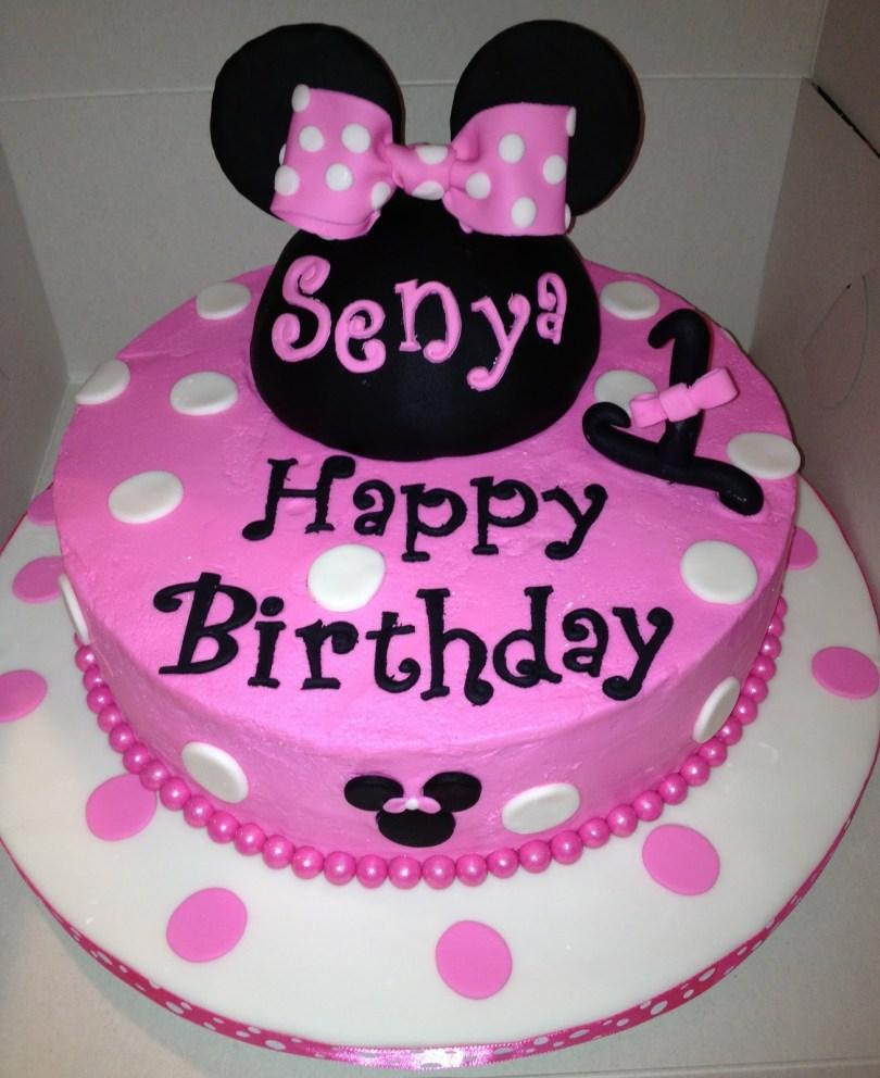 Minnie Mouse Birthday Cake Ideas 1st Birthday Minnie Mouse Cake Wedding Academy Creative