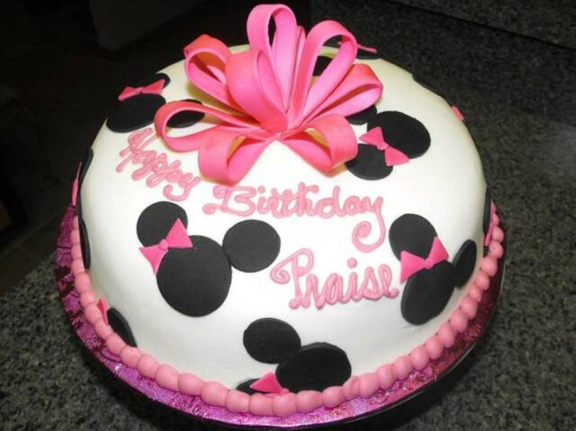 Minnie Mouse Birthday Cake Ideas Minnie Mouse Theme Birthday Cake Classic Style How To Make