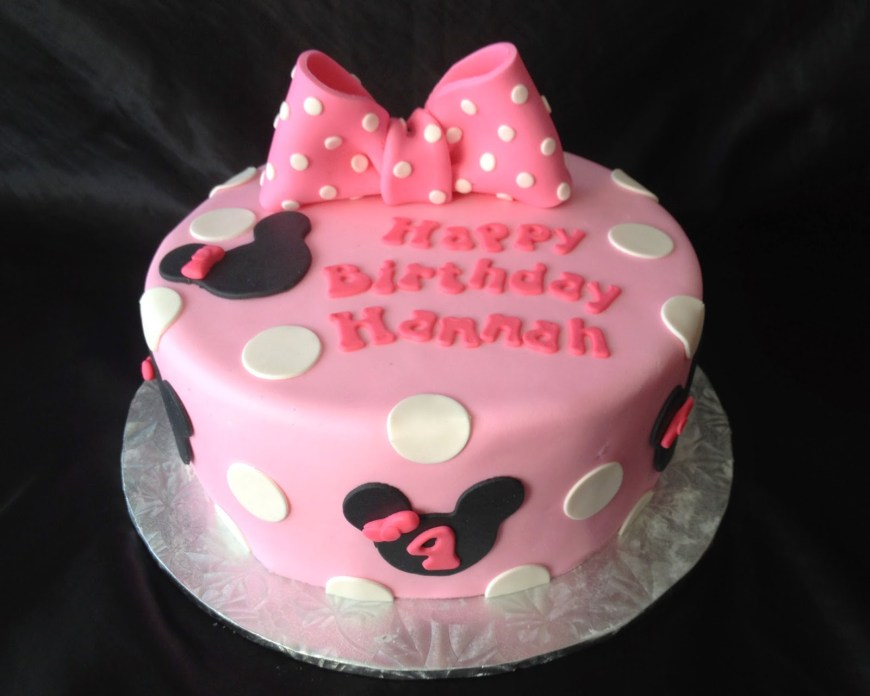 Minnie Mouse Birthday Cake Minnie Mouse Birthday Cake For Hannah