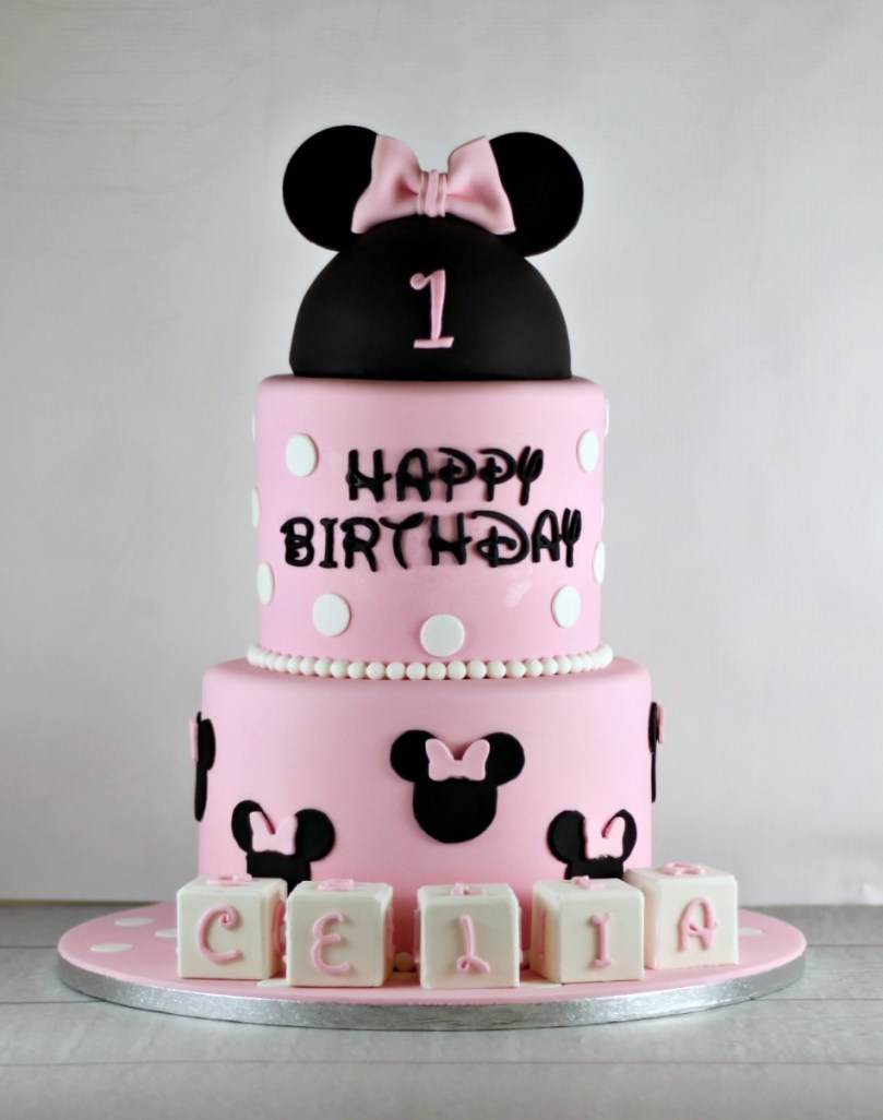 Minnie Mouse Birthday Cake Minnie Mouse First Birthday Cake Lil Miss Cakes