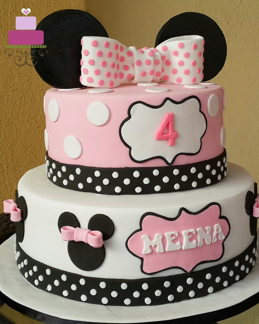 Minnie Mouse Birthday Cake Pink Minnie Mouse Birthday Cake