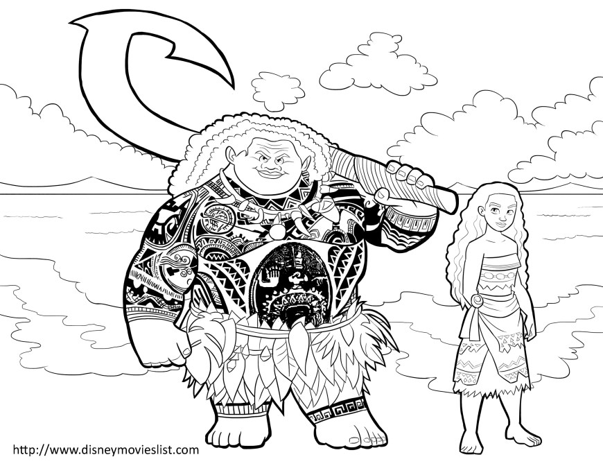 Moana Coloring Pages Pdf Disney S Moana Coloring Pages Sheet Free Disney Printable Moana