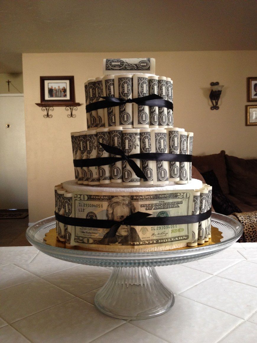 Money Birthday Cake Happy Birthday Money Cake Party Ideas Pinterest Money Cake