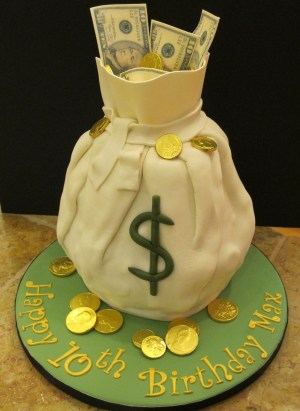Money Birthday Cake Maxs Birthday Money Cake Cakecentral