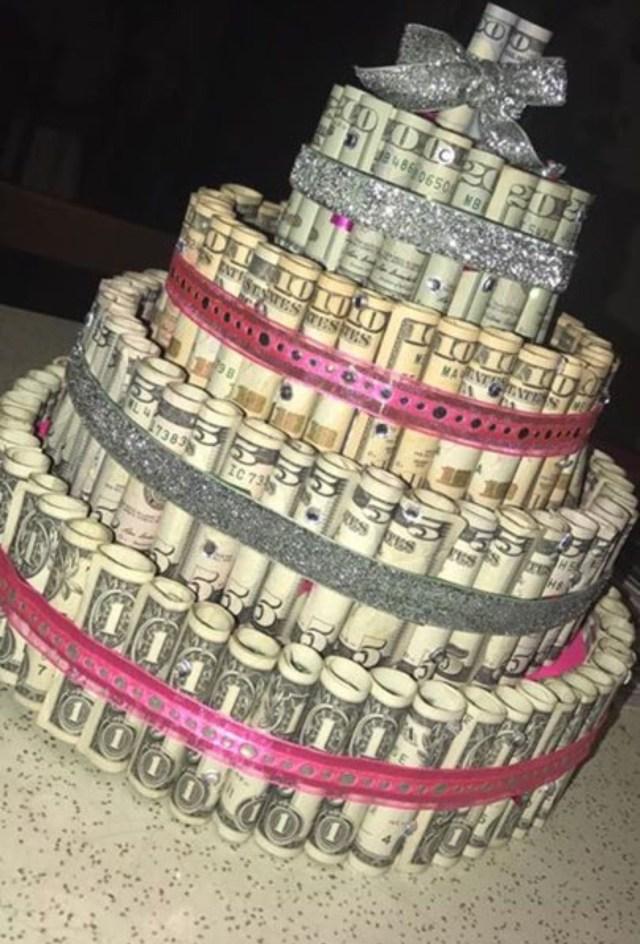 Money Birthday Cake Money Birthday Cake Cash Money Pinterest Birthday 21st
