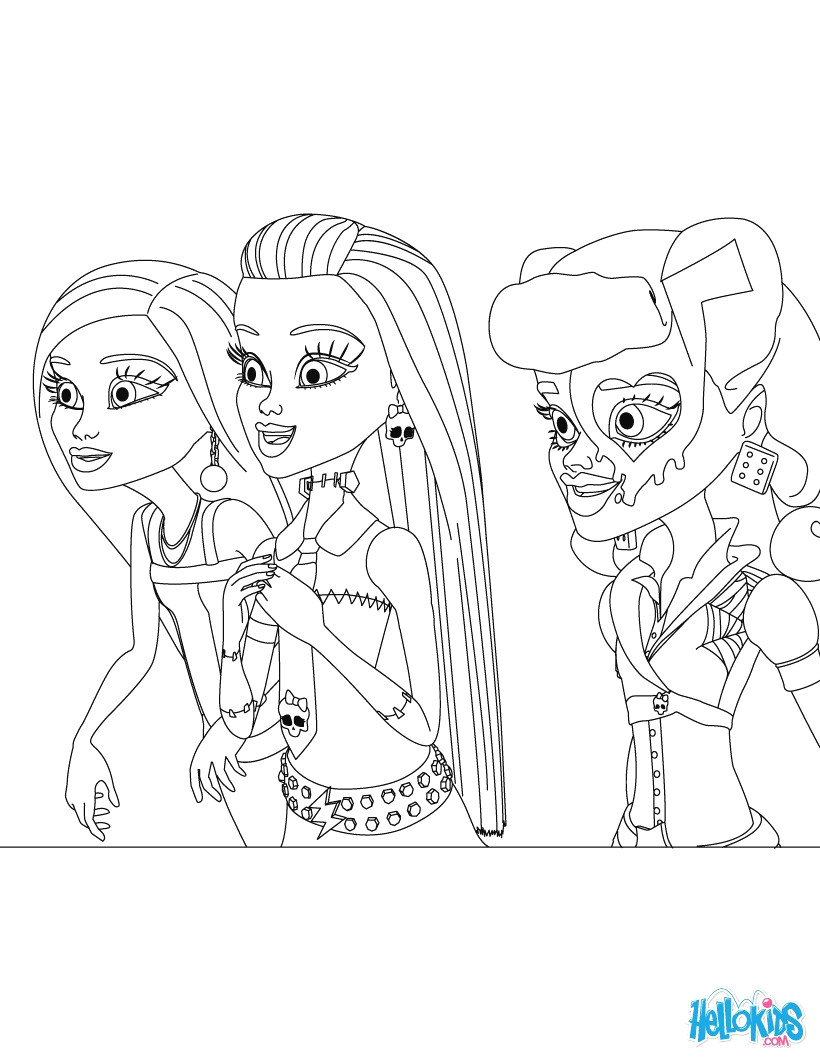 Monster High Coloring Pages Monster High Coloring Pages 72 Online ...