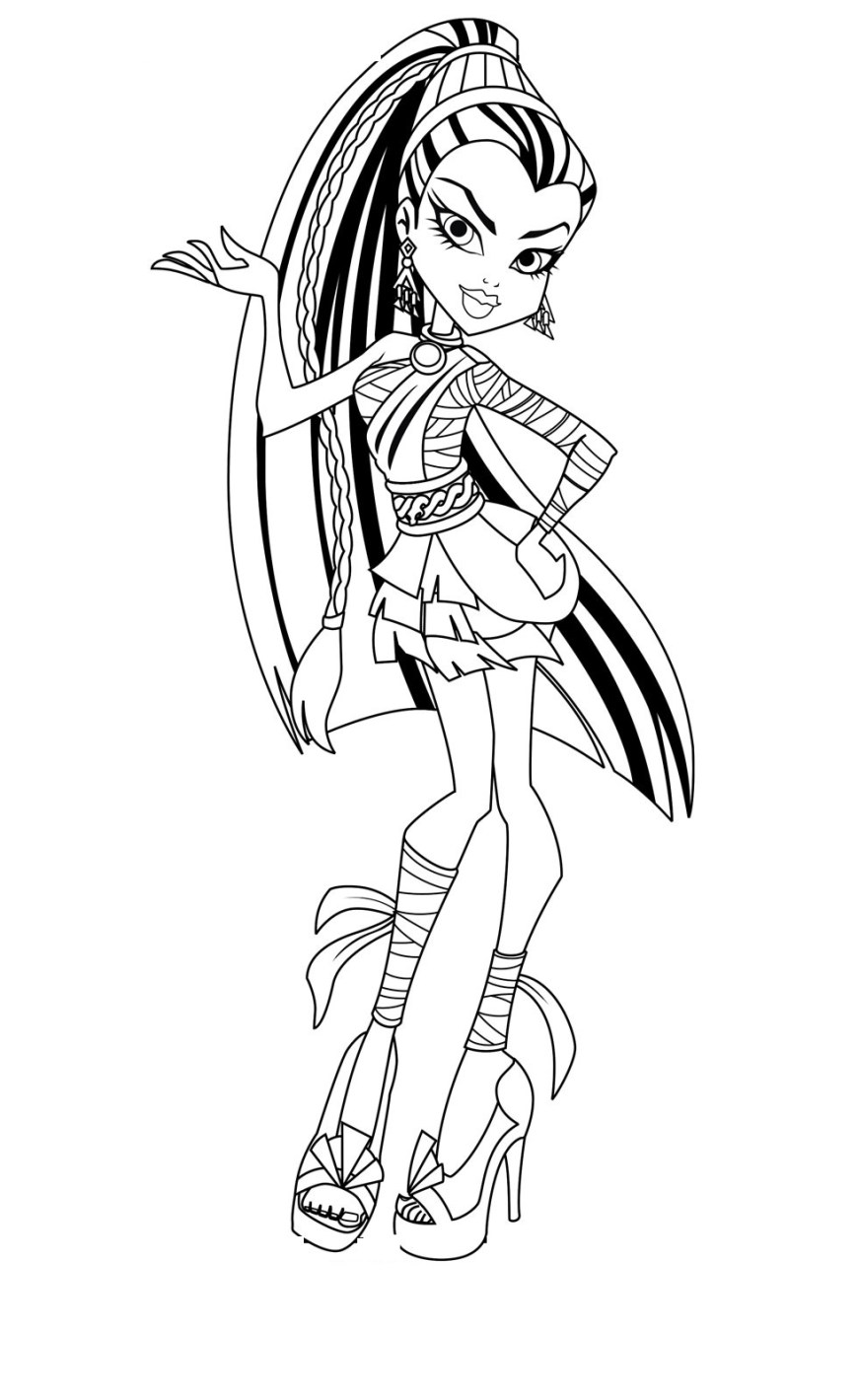 Monster High Coloring Pages Printable Coloring Page Monster High Coloring Book Pages Remarkable Inside