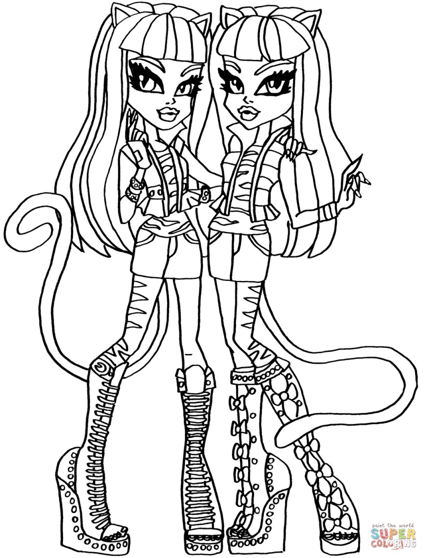 Monster High Coloring Pages Printable Monster High Coloring Pages Free Coloring Pages