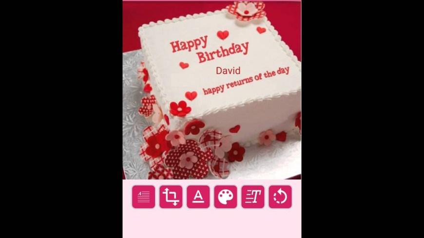 Name On Birthday Cake Birthday Cake Name Writer Youtube