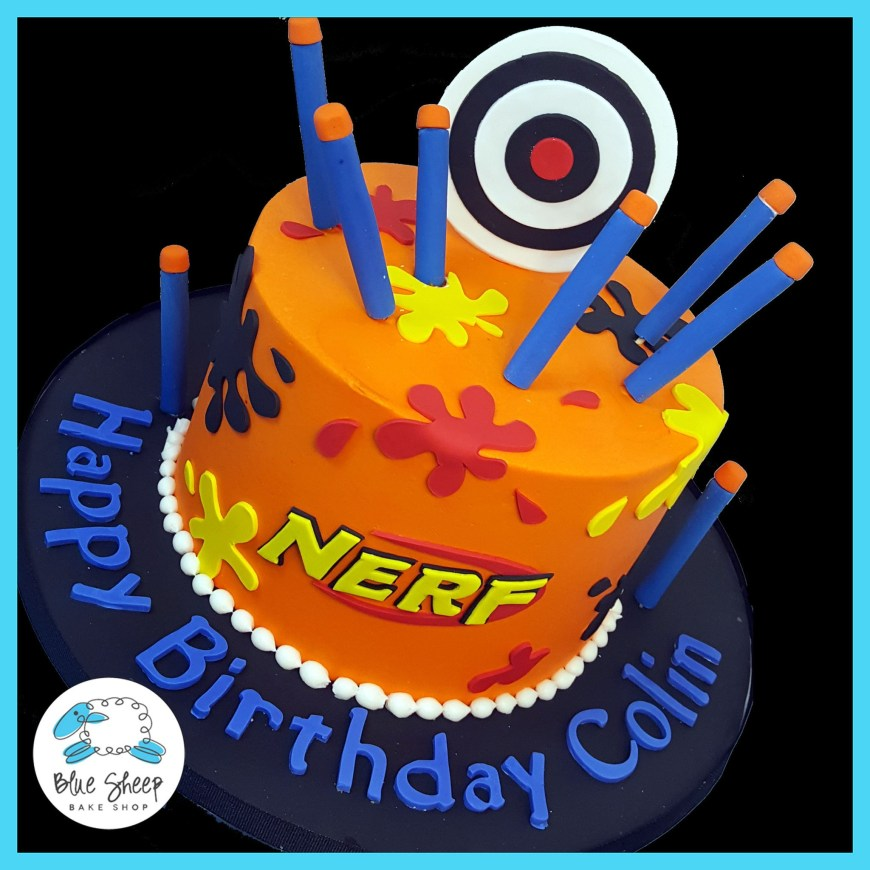 Nerf Birthday Cake Nerf Birthday Cake Cakes Pinterest Birthday Cake And