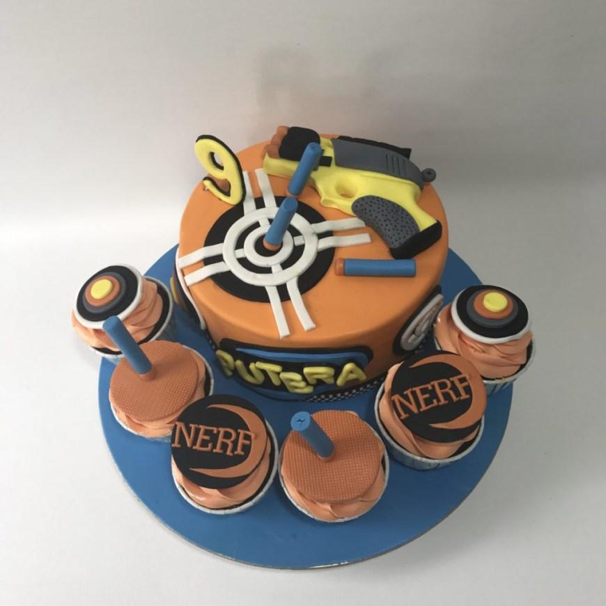 Nerf Birthday Cake Nerf Birthday Cake Sooperlicious Halal Cakes Singapore