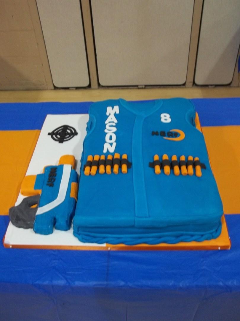 Nerf Birthday Cake Nerf Gun Birthday Cake Cakecentral